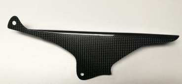 Carbon chain guard top for Aprilia RSV4 and Tuono V4