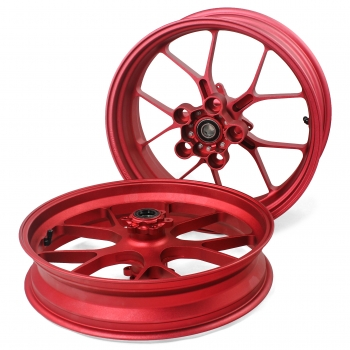 Forged rims set Aprilia RSV4 and Tuono V4 Red
