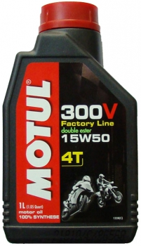 Motul 300V 4 T Factory Line 15W-50 engine oil for heavy duty 4-T engines