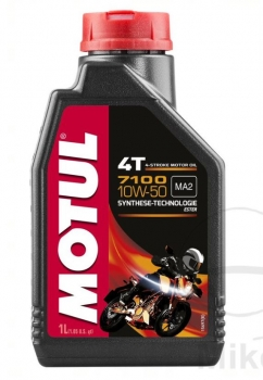 Engine oil 10W50 4T 1 litre Motul synthetic 7100 Maxx for RSV4 1100