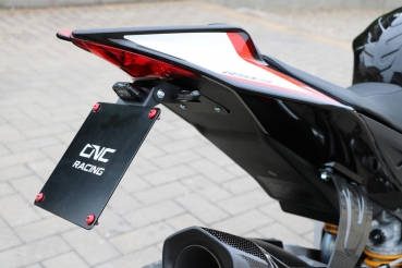 Short license plate holder RSV4 + Tuono V4 CNC Racing