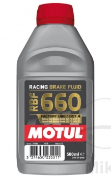 Motul Racing brake fluid RBF 660 DOT4