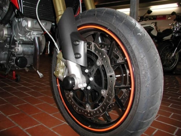 Fork and swingarm protection Aprilia Dorsoduro and Caponord