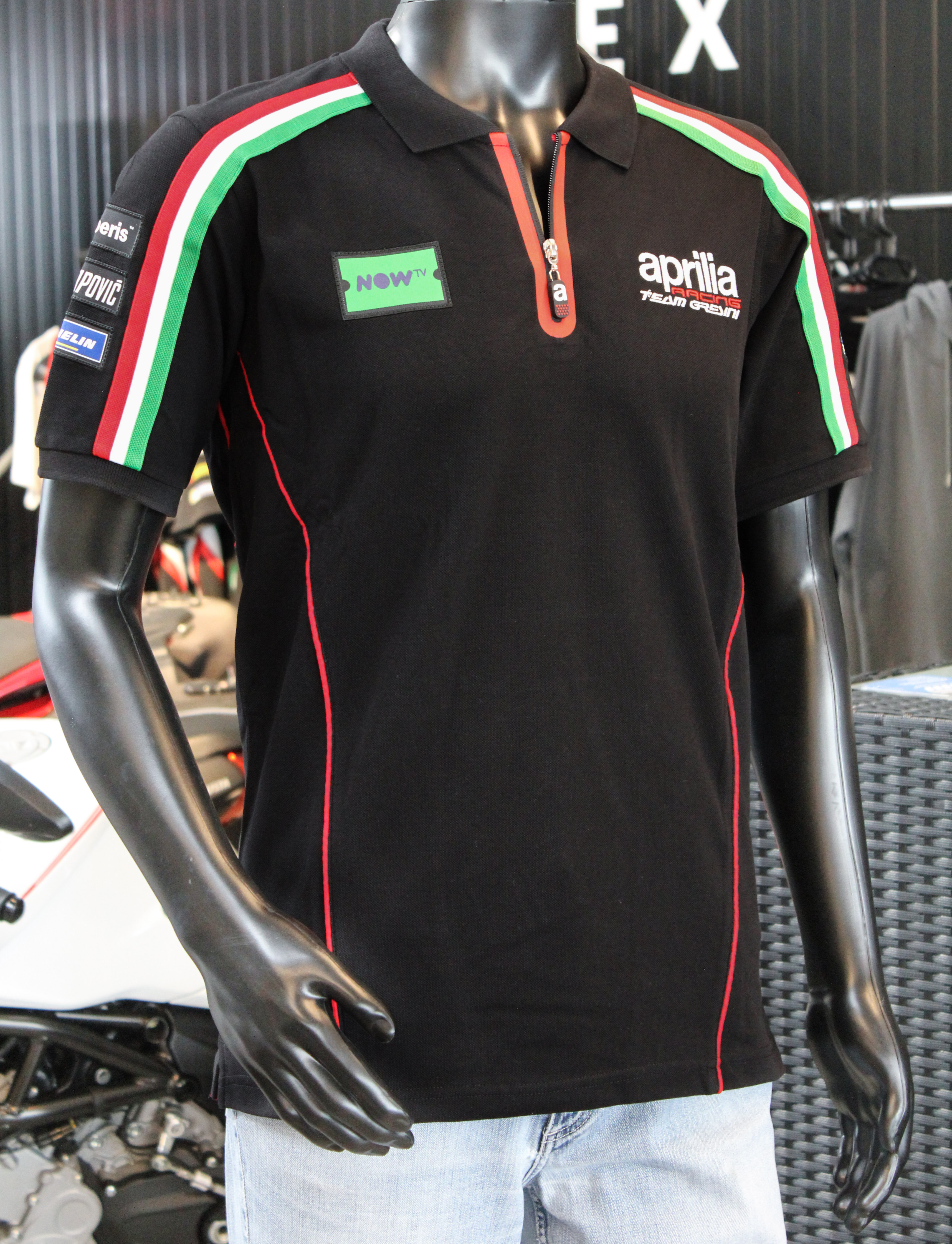 wsc neuss onlineshop polo shirt aprilia racing 2018. Black Bedroom Furniture Sets. Home Design Ideas
