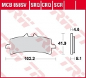 Sinter carbon racing brake pads TRW