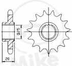 Shorter gear ratio sprocket 15Z for Aprilia RSV4